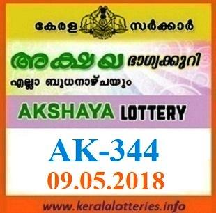 AKSHAYA AK-344 LOTTERY RESULT