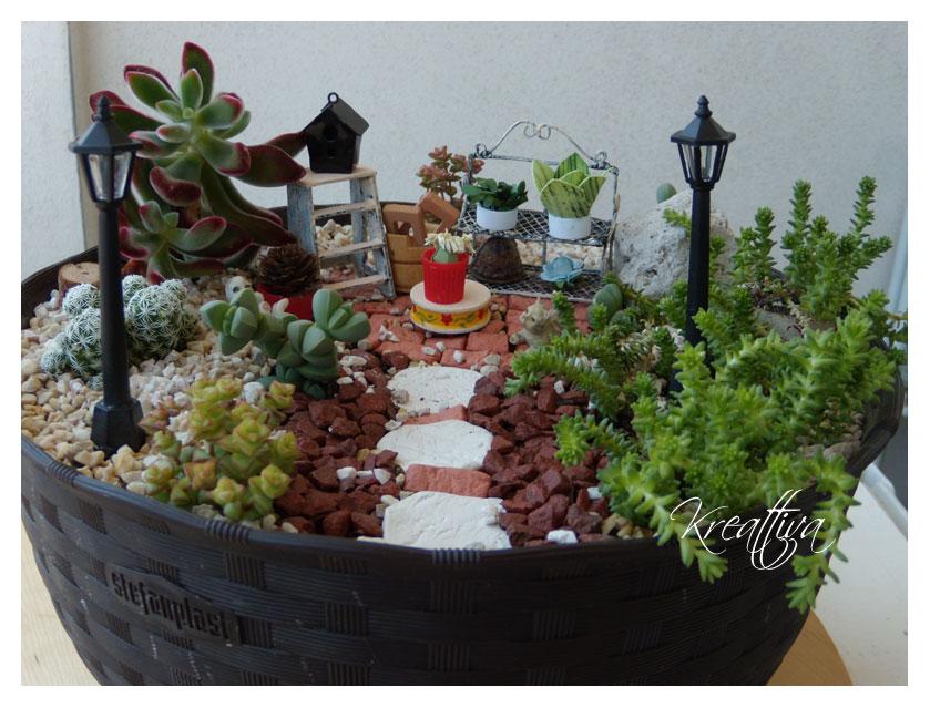 Giardino in miniatura fai da te kreattivablog for Dove comprare giardino zen da tavolo