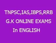 tnpsc online exam (in English)- General Science Test Part-01