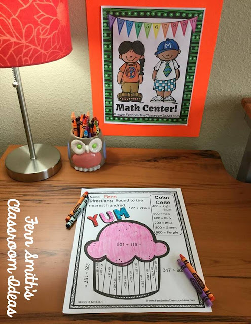 Fern Smith's Classroom Ideas Rounding to Estimate the Sum Color By Code Printables at TeacherspayTeachers, TpT.