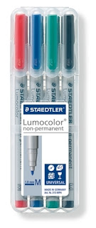 Steadtler Medium Non-Permanent Marking Pen Set of 4