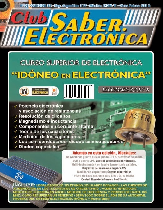 "Club Saber Electrónica – Curso superior de electrónica ""Idóneo en electrónica"""
