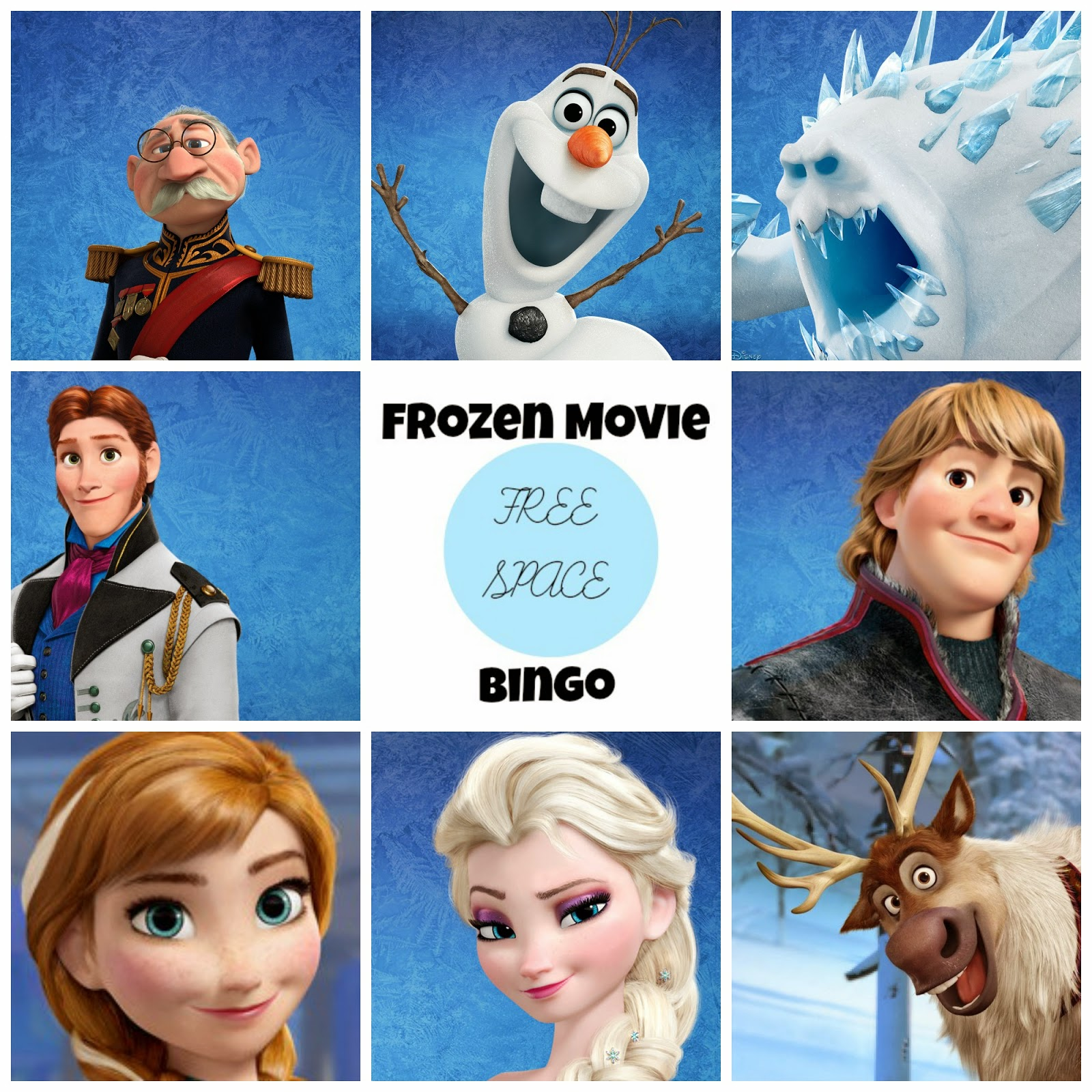 Frozen Free Printable Bingo. | Oh My Fiesta! in english