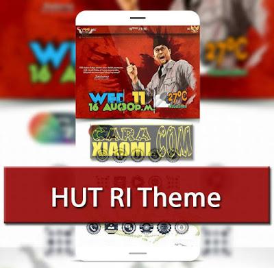 Theme MIUI Dirgahayu Merdeka HUT RI 72 Mtz For Smartphone Xiaomi