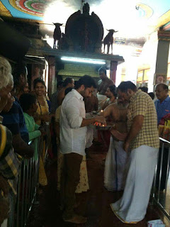 Surya visit at temple with family latest pictures