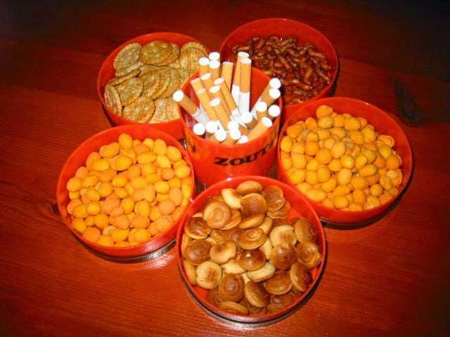 Jaren 70 - zoutjes met sigaretten