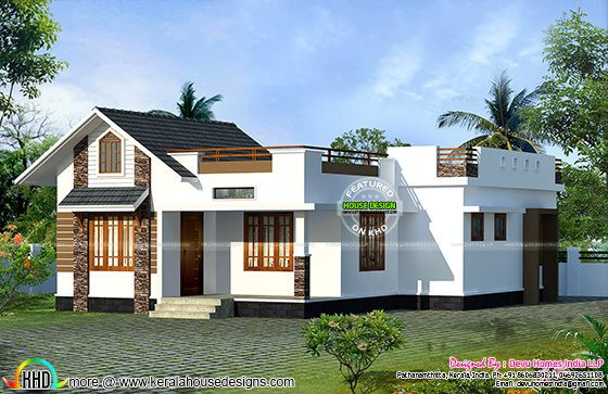North facing vastu home single floor