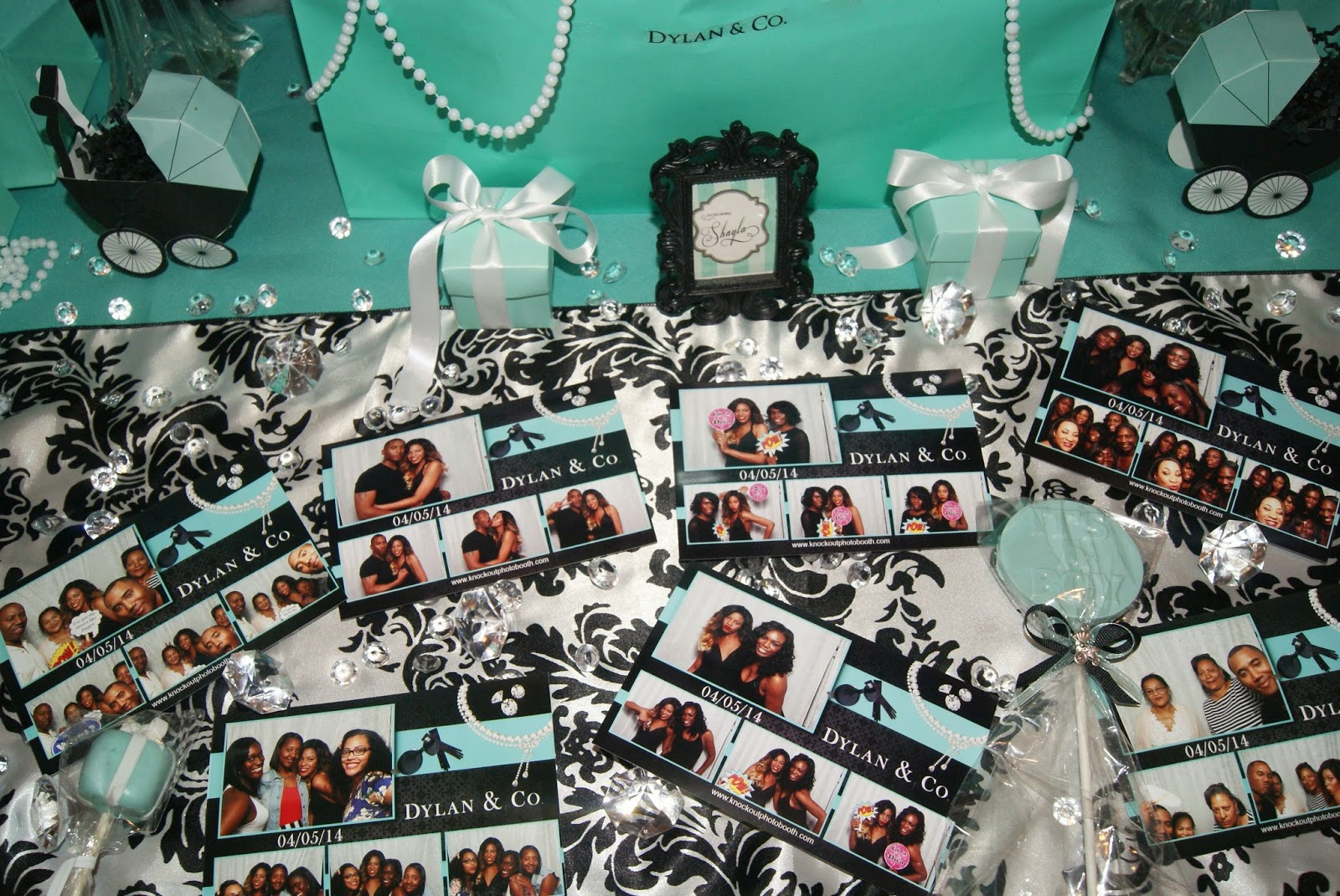 photo booth, party inspiration, allthingsslim, baby shower, breakfast at tiffany's theme party