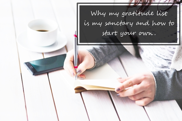how to simply create a gratitude list | Meghan Silva & @meghanssilva