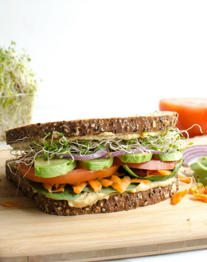 receta sandwich vegano humus ayudaadecorar.blogspot.com.es/