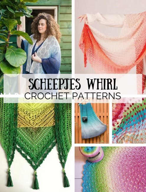 Crochet patterns Scheepjes Whirl, haakpatronen Scheepjes Whirl | Happy in Red