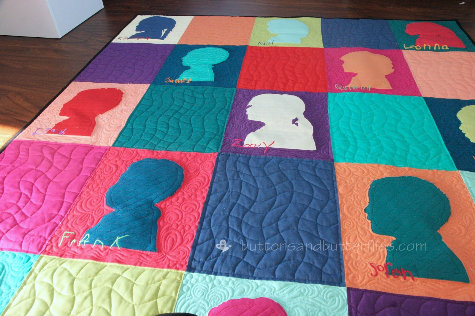 Buttons And Butterflies Sweet Silhouette Quilt