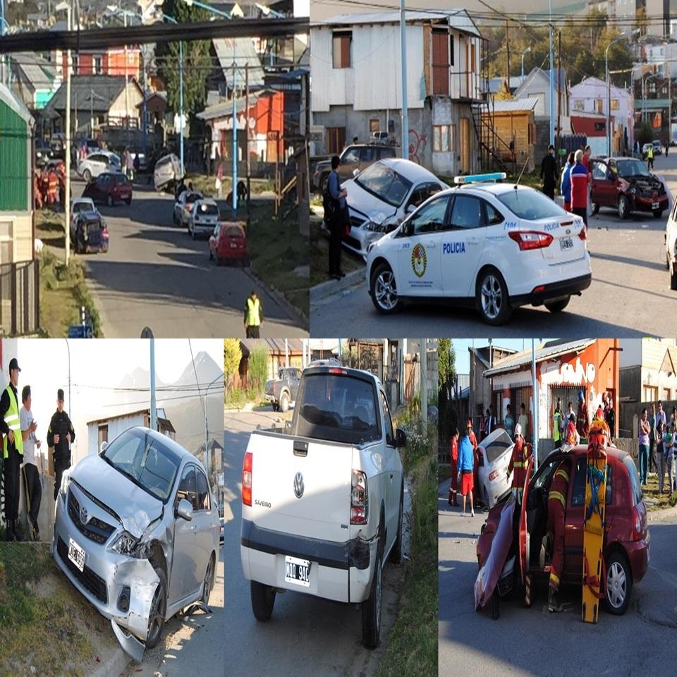 Triple colision en Olmos y Puerto Español