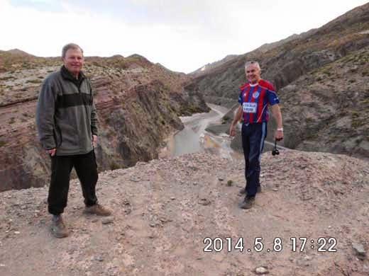 Blick auf das Canyon, das die Grenze zwischen Bolivien zu Argentinien bildet.