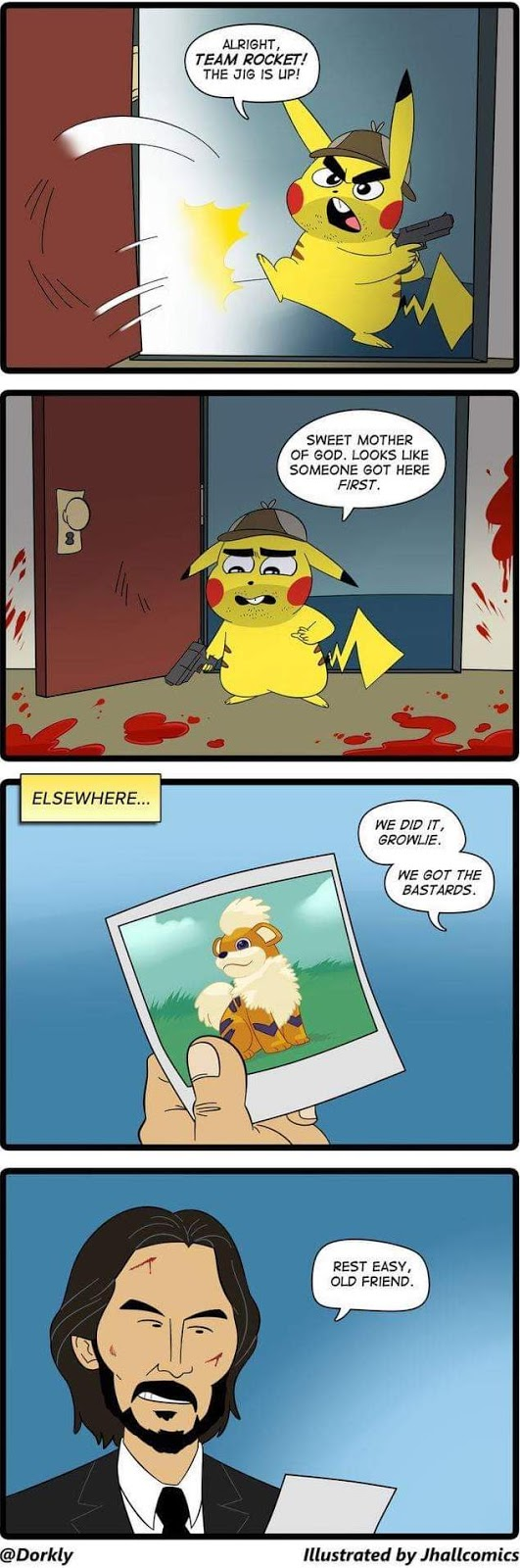 Detective pikachu meets