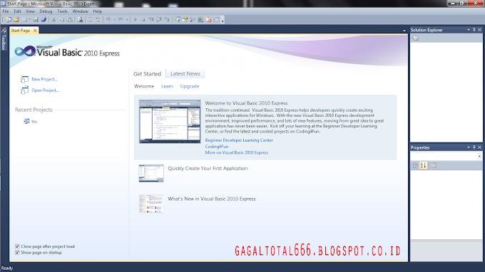 Cara Membuat IP Finder Simple di Visual Basic 2010 Express