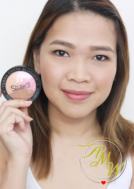 a photo of nikki tiu askmewhats wearing Shawill Terra Cotta Blusher Review.
