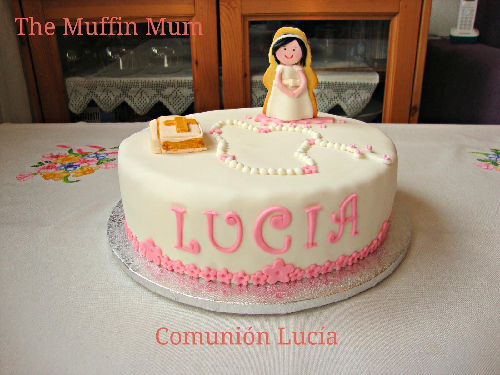 Tarta comunión Lucía