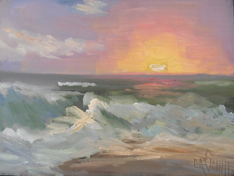beach sunset oil painting. purchase here beach sunset oil painting