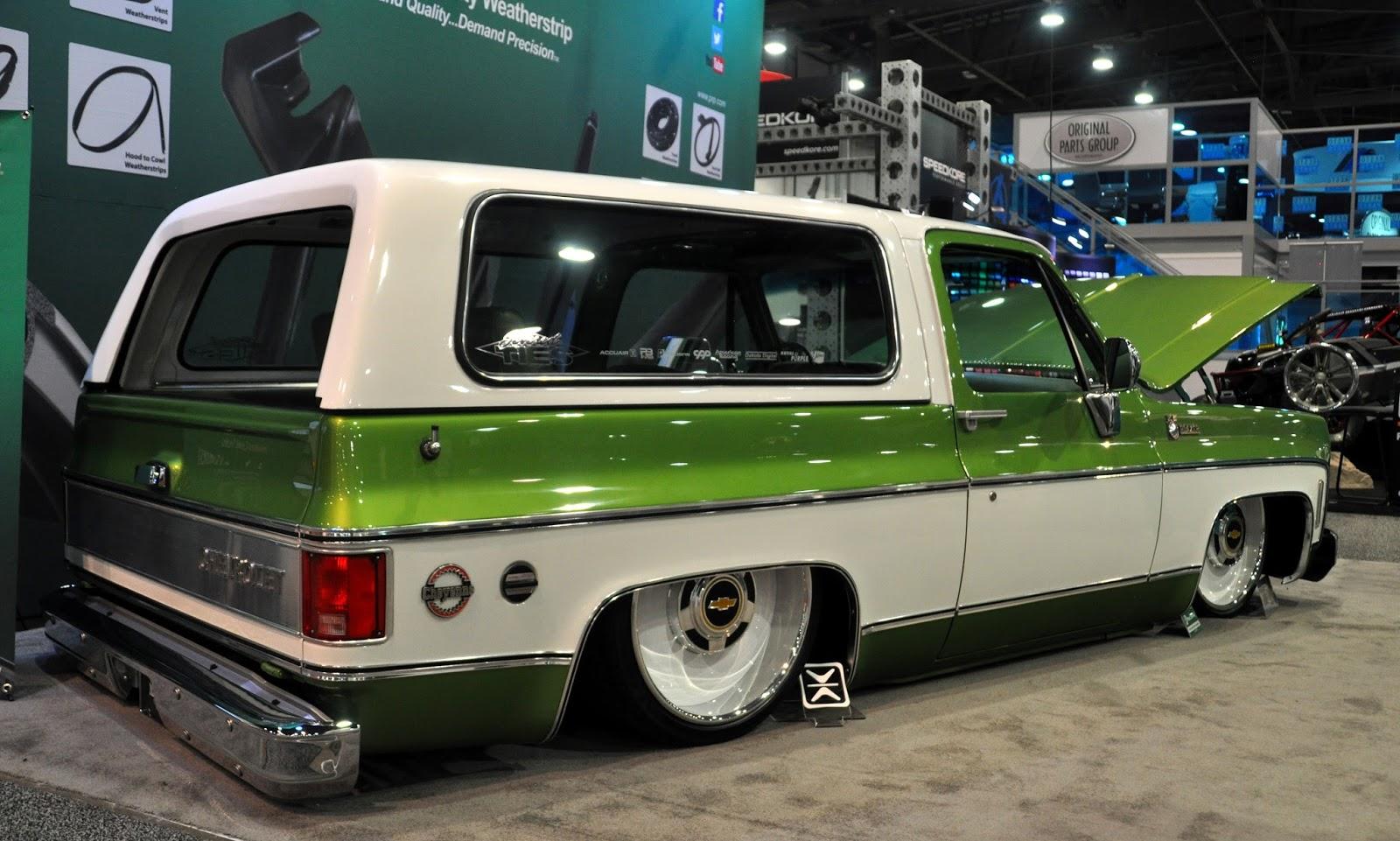 Just A Car Guy: SEMA had an abundance of old Chevy trucks this year ...