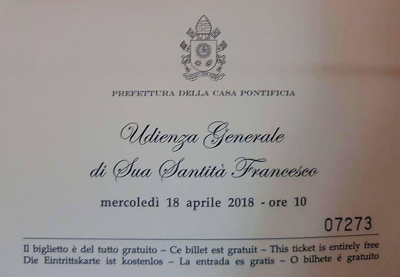 Convite para ver o papa - Como ver o papa no Vaticano