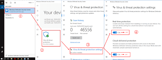 Cara Mematikan Windows Defender Sercurity Center di Windows 10