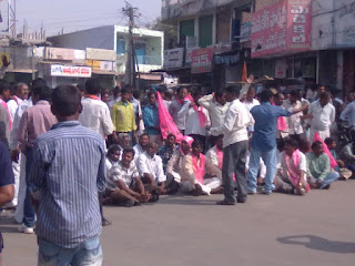 TRS & BJP Dharna at Jammikunta on 29th December 2