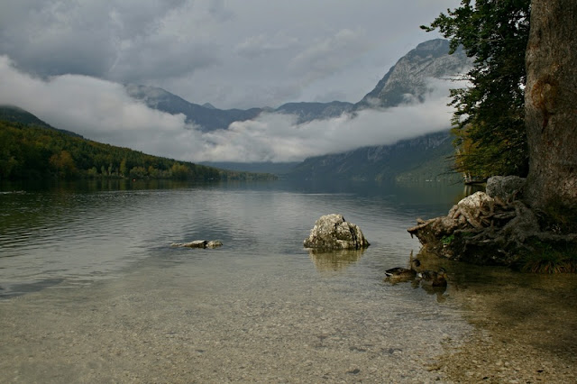 Mountain, Sky, Cloud  at  Lake Bohinj Slovenia