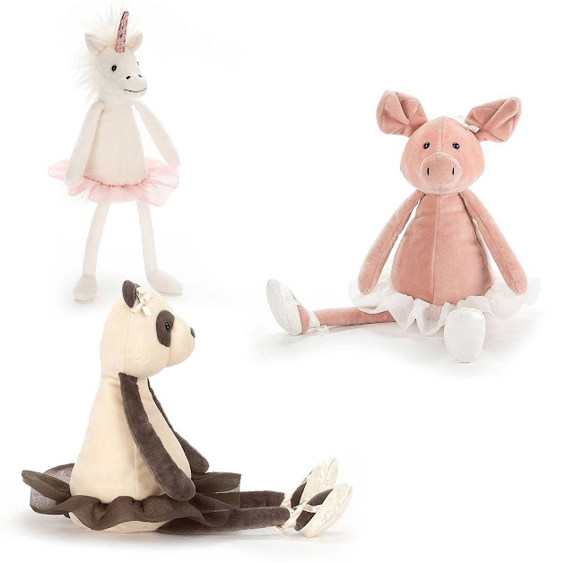 Dancing Darcey soft toys jellycat