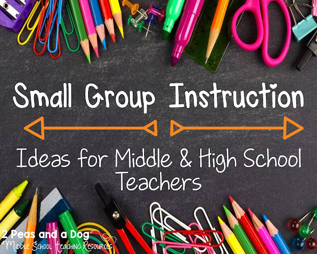 Small group instruction looks different in every classroom - sometimes it is a structured intervention program, other times it is the teacher working with a small group of students on a focused task like guided reading or writing. Several great strategies are shared on how to make small group instruction meaningful in the secondary classroom.