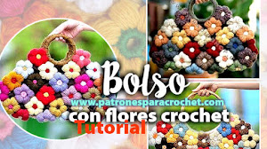 Cómo tejer bolso con flor punto puff Mollie Crochet Flower / Tutorial DIY