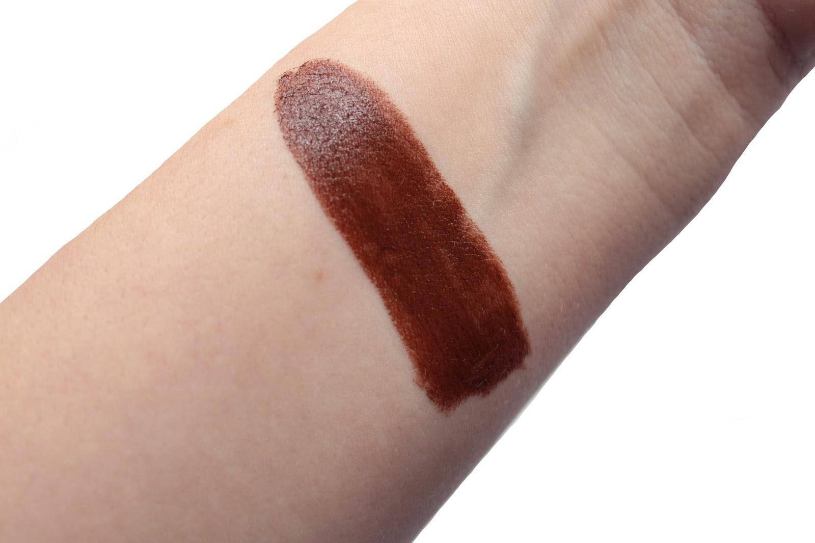 Elizabeth Arden 45 Chocolate Matte Lipstick Swatched