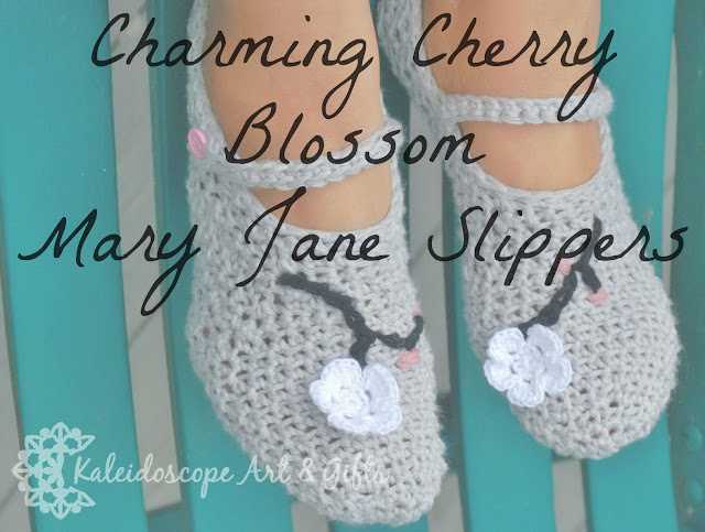 Charming Cherry Blossom Mary Jane Slippers