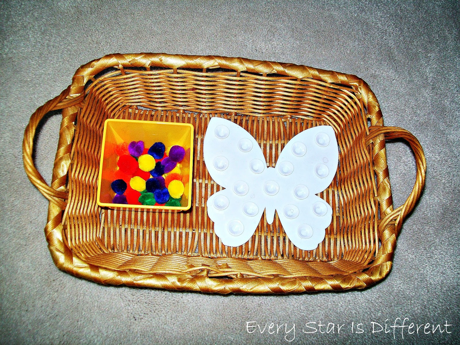 Decorating a Butterfly Activity for Kids