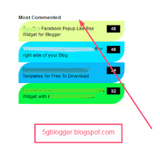 most commented widget for blogger