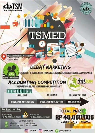 Lomba Debat Dan Accounting Competition TSMED Trisakti 2018