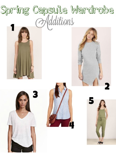 Capsule Wardrobe: Spring Additions