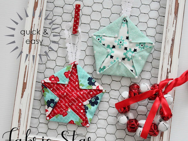 {Tutorial} Fabric Star Hangers