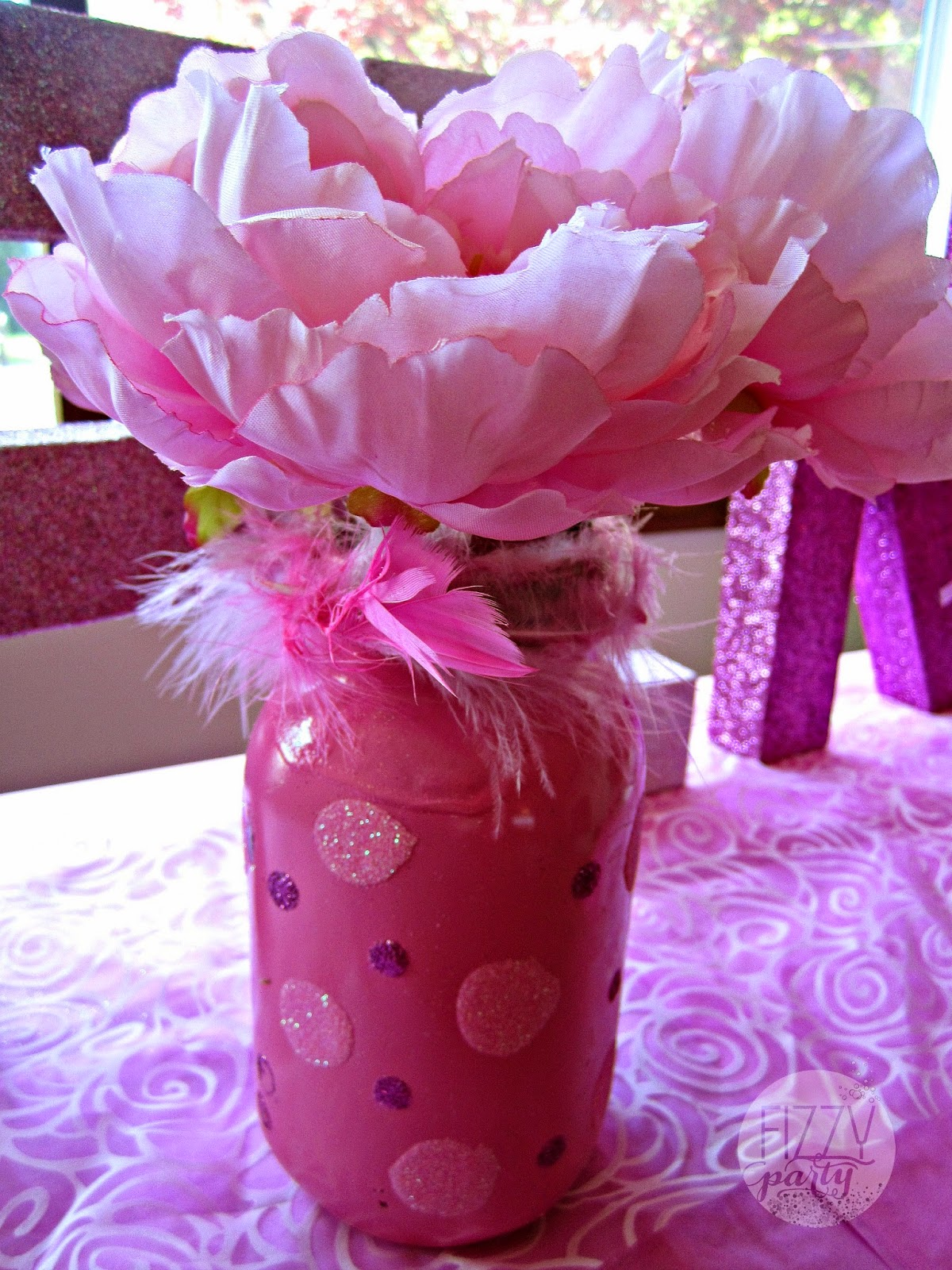 Pink Party mason jars by Always the Occasion