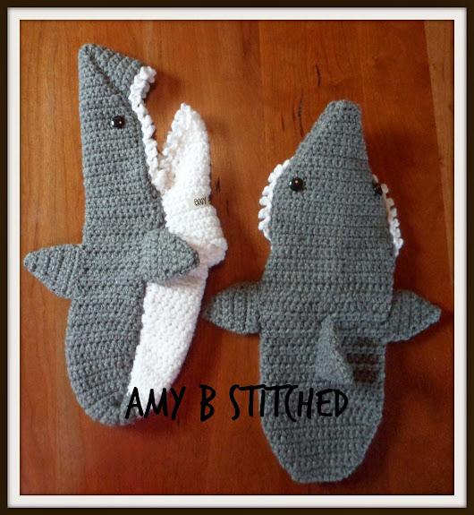 Pattern Review For These Fun Crochet Shark Slipper Socks Designed By
