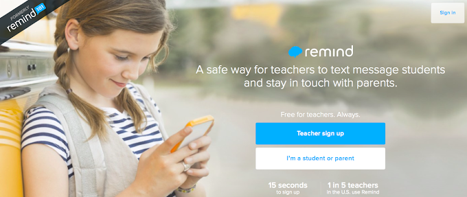 Free App: Remind to improve communication with students!