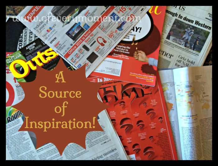 Newspapers and magazines offer lots of ideas