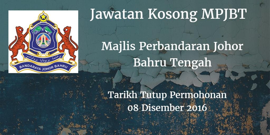 Jawatan Kosong MPJBT 08 Disember 2016
