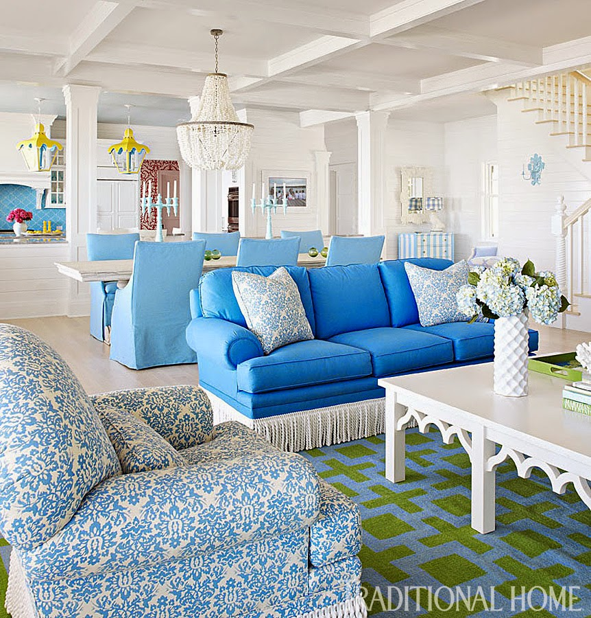 Traditional Home Interiors: The Glam Pad: A Vibrant Family Lake Home