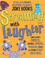 Screaming with laughter by Michael Dahl book cover jokes