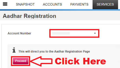 how to link aadhaar with axis bank account through net banking