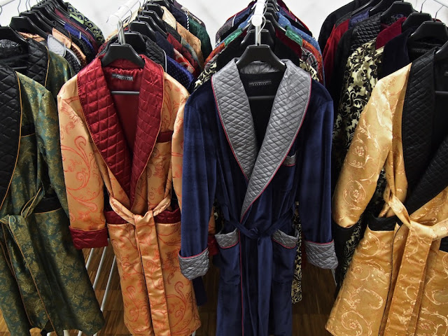 mens luxury quilted silk robes gents dressing gown paisley smoking jacket