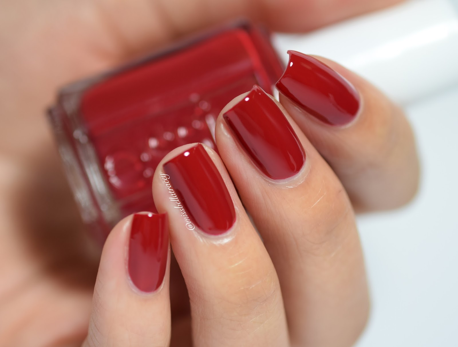 Deep Red Nail Polish Essie Hession Hairdressing