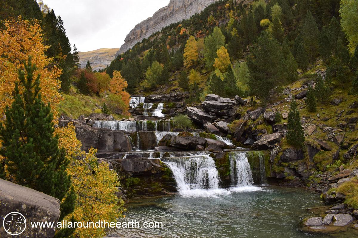 Gradas de Soasa waterfall in the Ordesa Valley, Ordesa Y Monte Perdido National Park, Spain