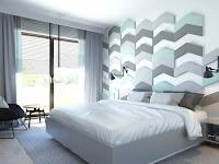 Moderne Wandgestaltung für Schlafzimmer